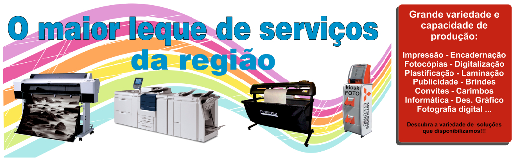 Serviço de impressão, fotocópias e publicidade