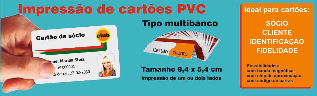 Impressão de cartões PVC